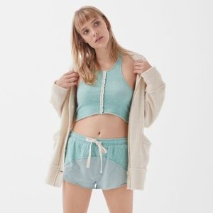 NWT UO Out From Under Silas Fleece Cropped Top
